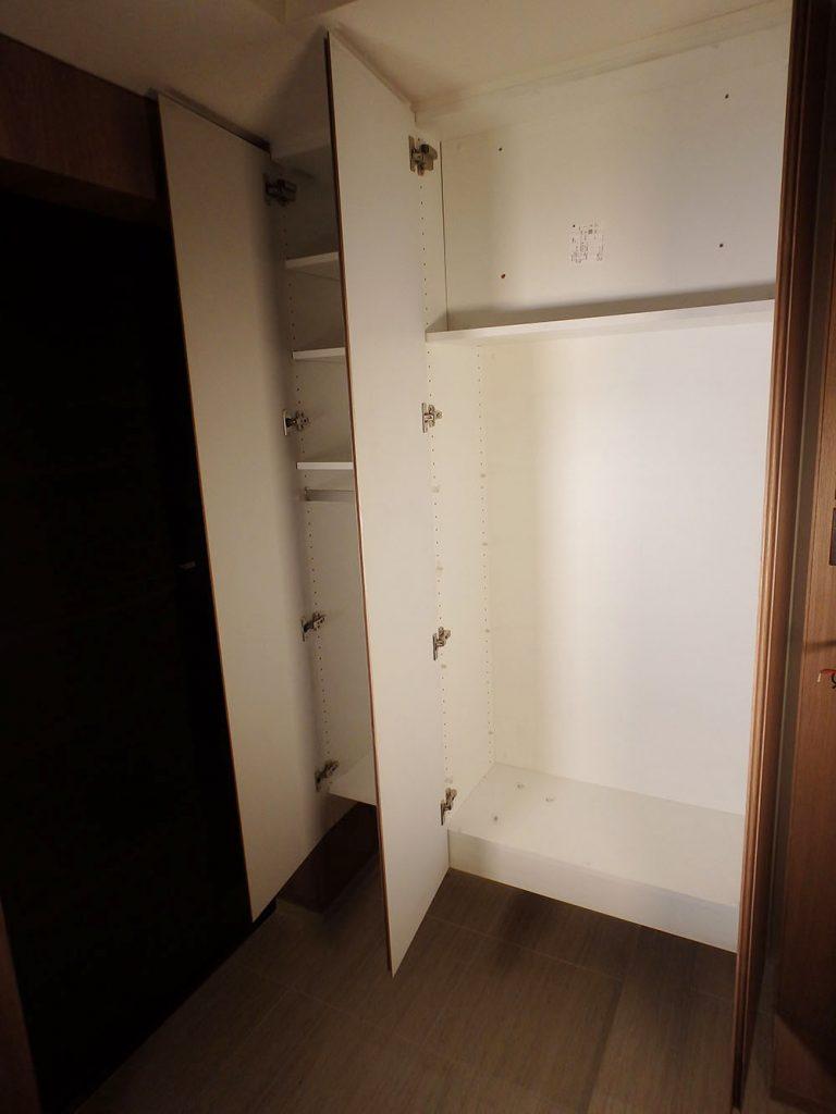 RAW2 展示品 造作家具 シューズボックス 下駄箱 玄関収納 収納棚 靴棚 一部棚板無し W1180 H1800 D350